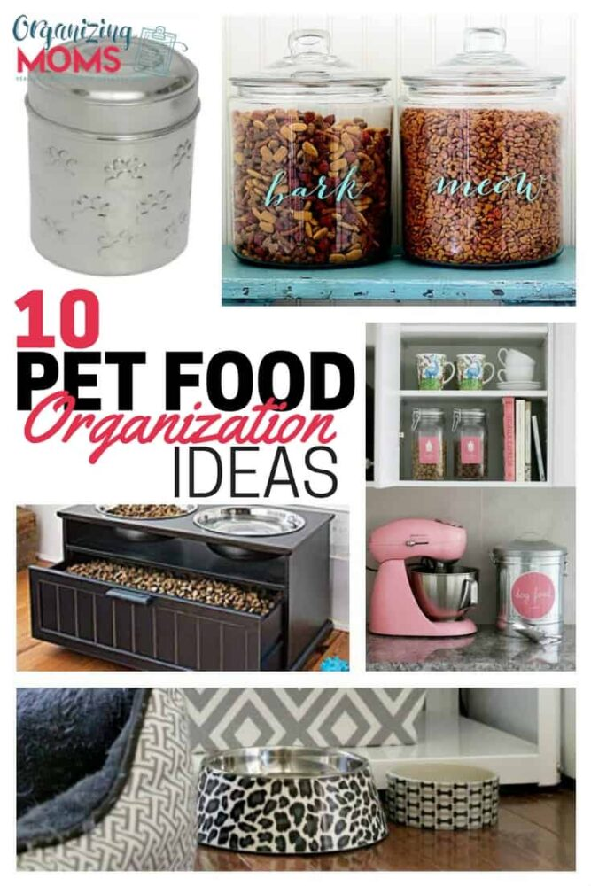Pet food organization ideas to help you keep your furry friend's food and snacks neat and accessible.