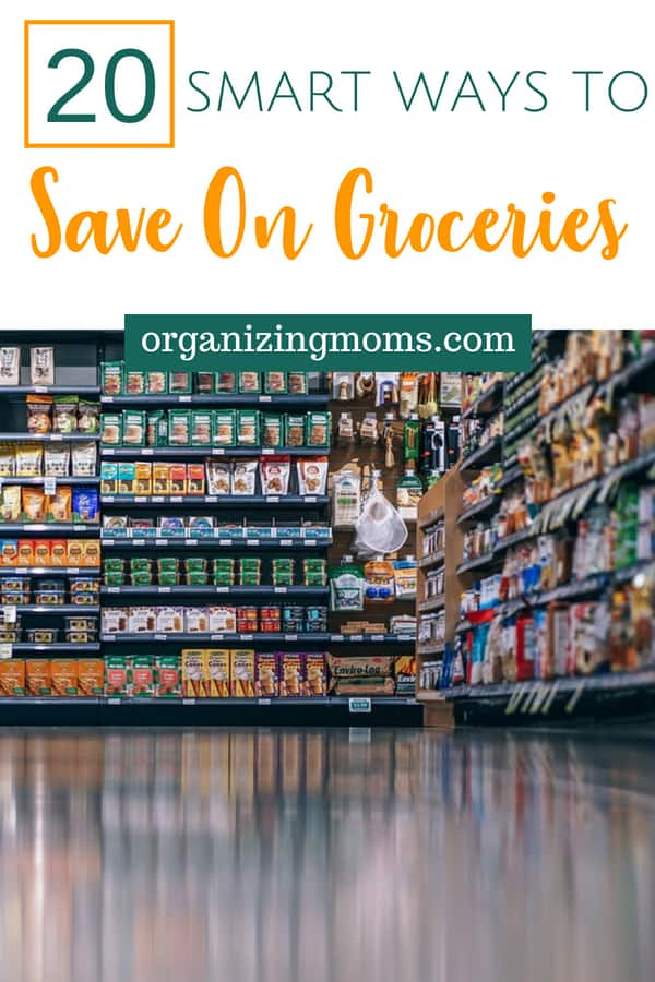 How to save money on food and groceries. Ideas and tips for spending less and buying smarter at the grocery stores. Food is always a huge part of everyone's budget, and it's also pretty easy to reduce. Lower your food expenses so you can save or pay off debt. #budget #saving #groceries #frugal