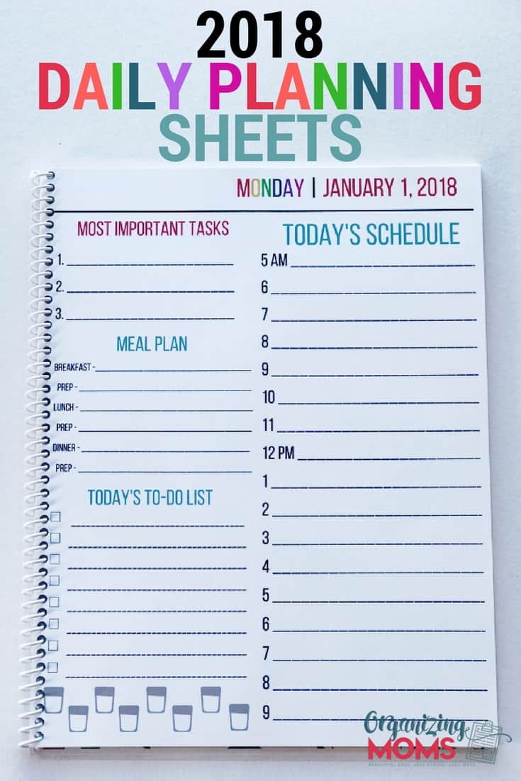 daily planning sheets collection