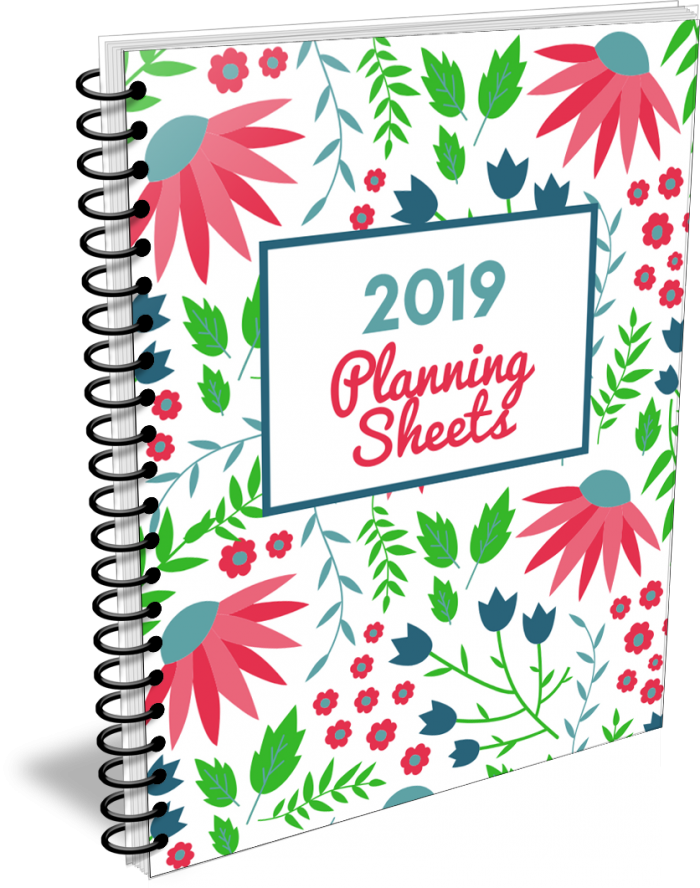 2019 Planning Sheets Collection from Organizing Moms