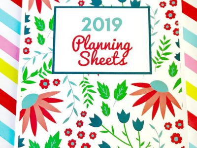 Cover for 2019 Planning Sheets Collection from Organizing Moms.