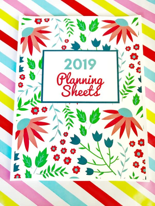 2019 planning sheets collection