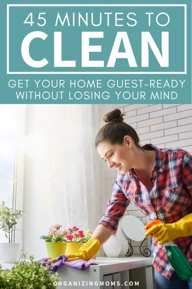 flylady emergency cleaning 45 minutes to clean