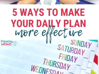 Be more productive and feel more accomplished each day with these tips. 5 ways to make your daily plan more effective. Incorporate these tips into your daily planning and see what a big difference it makes!