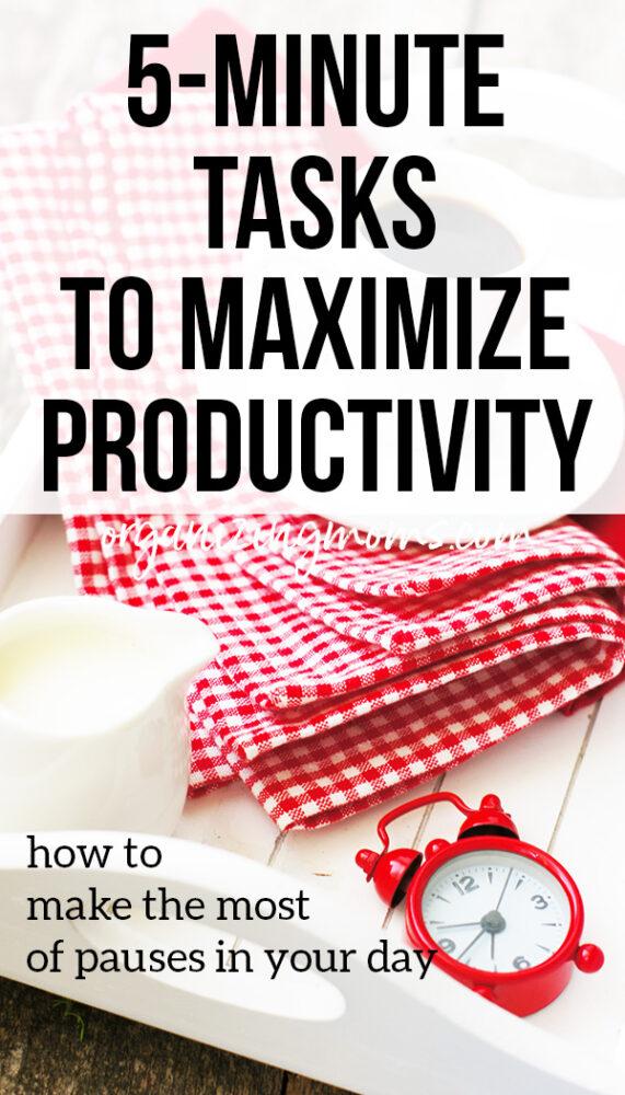 5 minute tasks