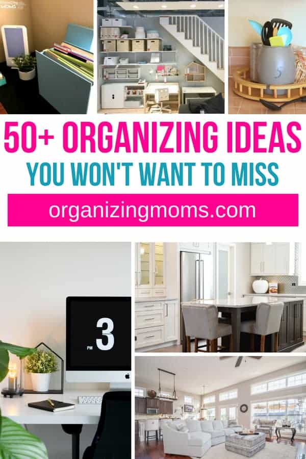 Love a great organizing hack? Here's over 50 organizing ideas that will help you declutter and organize your home.