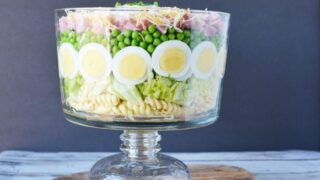 Grandma's 7 Layer Salad: With Chopped Ham and Peas
