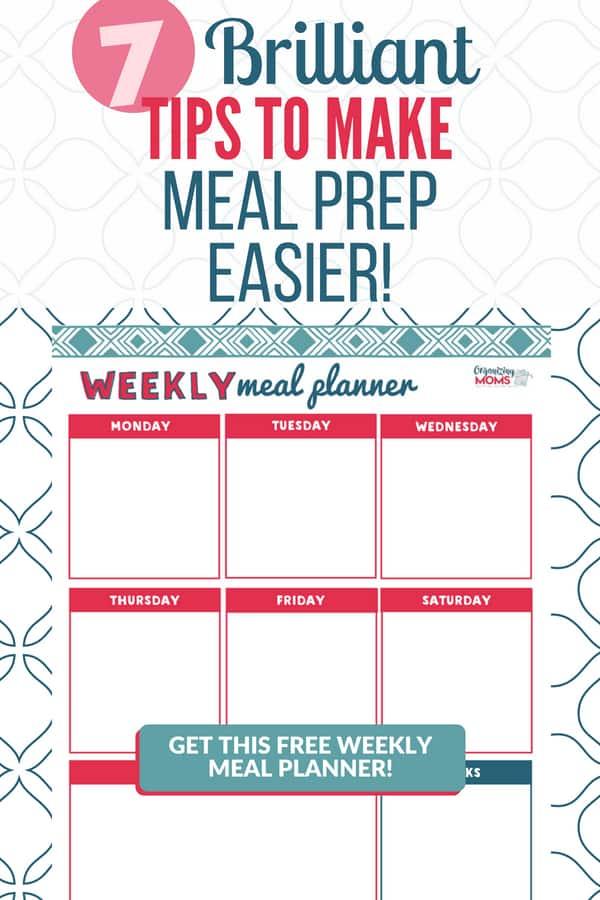 This free printable meal planner saves me hours every week! There are so many good ideas in this article that will help you save time in the kitchen with meal prep.