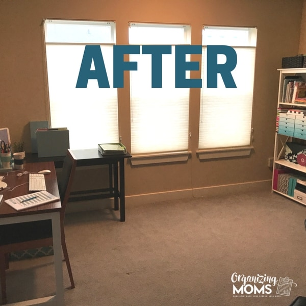 After the organized office decluttering project.