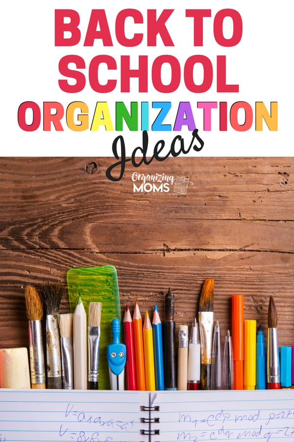 Get ready for the new school year with back to school organization ideas || organizing ideas | back to school organizing | organization for moms | organize | organization | meal prep | declutter and organize #organize #backtoschool