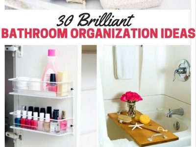 Want to get your bathroom organized? Here's 30 bathroom organization ideas to inspire and motivate you!
