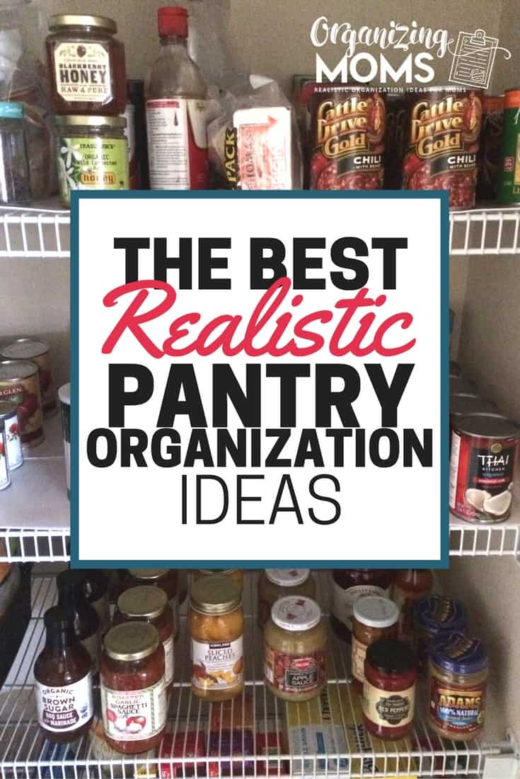 Looking for pantry organization inspiration? Here's the best realistic pantry organization ideas.