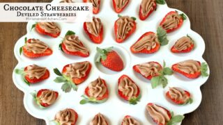 Chocolate Cheesecake Deviled Strawberries