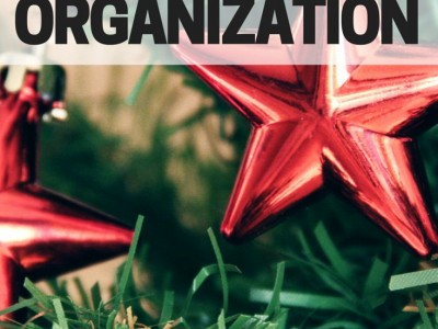 Organize Christmas decorations the easy way this year. Use what you love, and declutter the rest!
