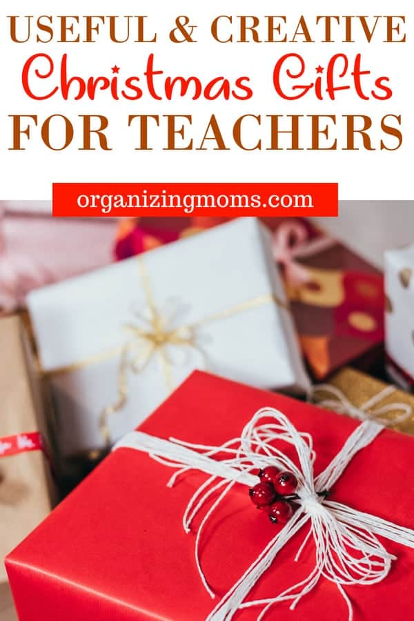 Creative Christmas Gifts for Teachers. Get your teachers something they'll love and use. #christmas #teachergifts