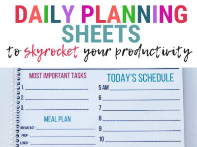 daily planning sheets printables