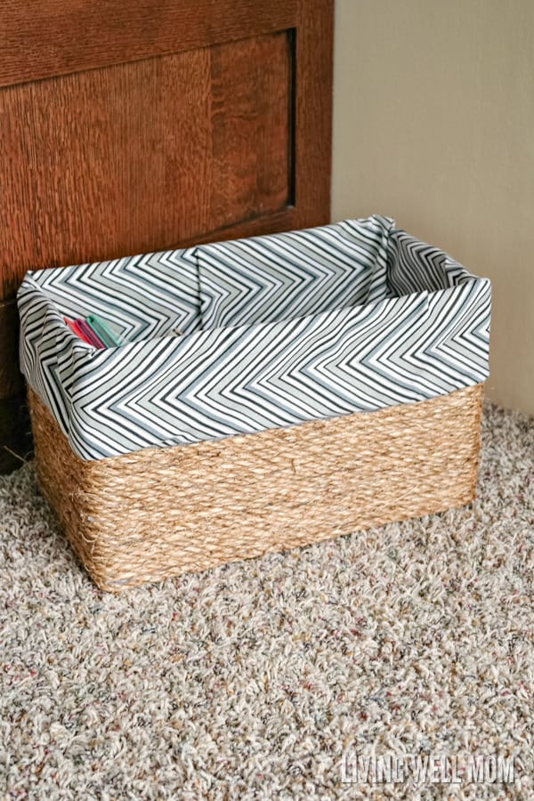 DIY baskets for storage you can make using a box