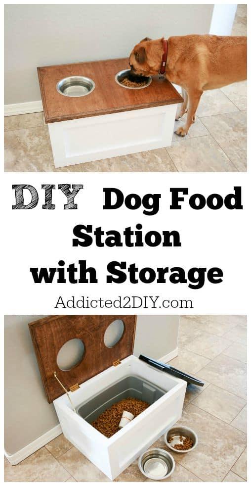 Superior Diy Dog Food Station With Storage From Addicted2diy Design
