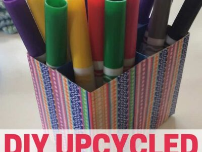 Make your own marker organizer by upcycling boxes you already have!