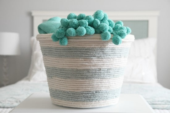 DIY Rope Basket for Storage from iHeartOrganizing