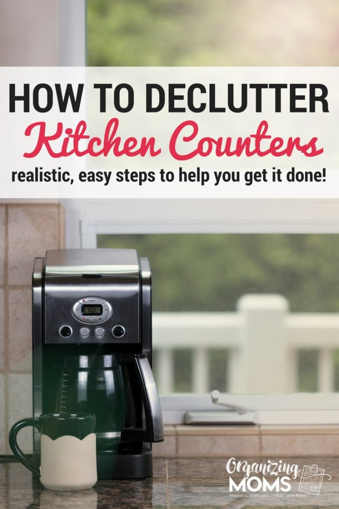 Decluttering kitchen countertops is one of the biggest impact decluttering tasks you can do. Realistic, easy steps to help you declutter your kitchen counters.