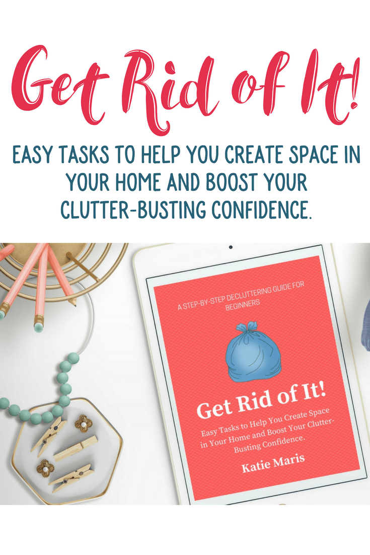 Ready to declutter? Get Rid of It! is filled with easy decluttering tasks that will help you make decluttering a habit, and boost your clutter-busting confidence. Proven strategies to help you see progress without wearing yourself out. The perfect clutter-busting solution!