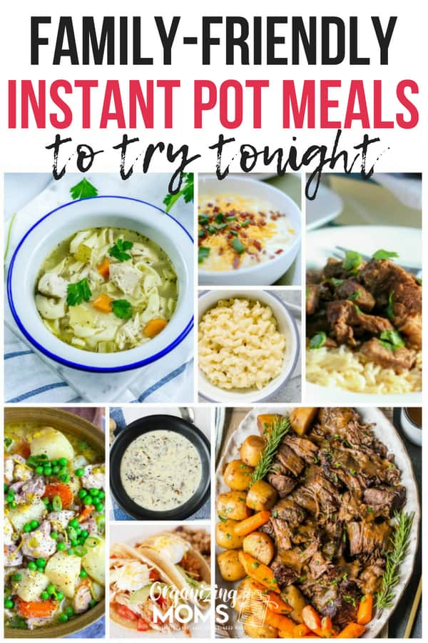 Delicious meals you can make with your Instant Pot tonight! || instapot | family friendly instant pot recipes | instant pot meals for families | family friendly instapot recipes | #instantpot #familyrecipes #weeknightdinners