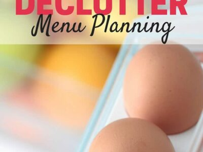 Save money and cut down on waste by creating a meal plan that will help you do a kitchen declutter meal plan. Detailed instructions on how to make your own kitchen declutter meal plan.