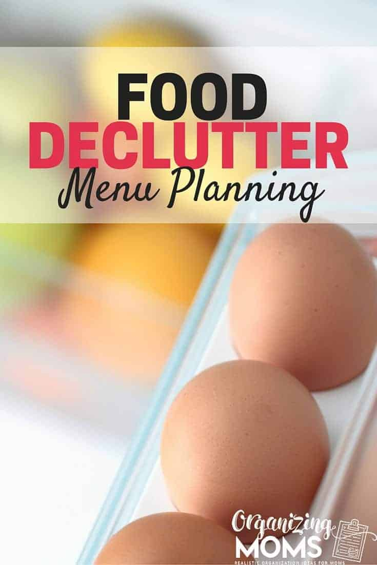 food declutter meal planning
