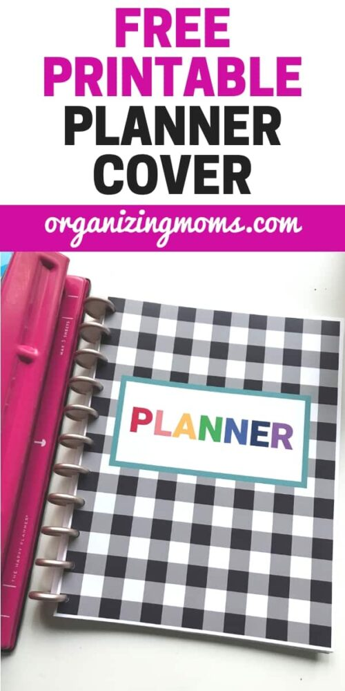Refresh your planner with this free printable planner cover. Full-sized, it works well with all types of planners. Use with binders, spiral-bound, or disc bound notebooks. Beautiful colors and buffalo check make this planner cover fun to use. Download this PDF printable and start using the new binder cover today. Free from Organizing Moms.