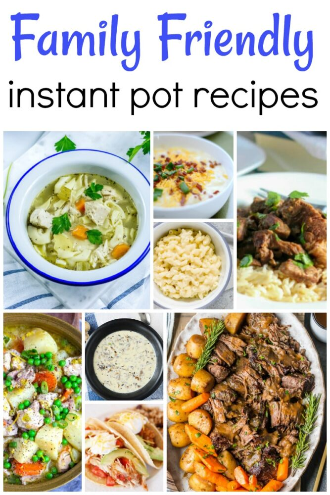 Family Friendly Instant Pot Recipes