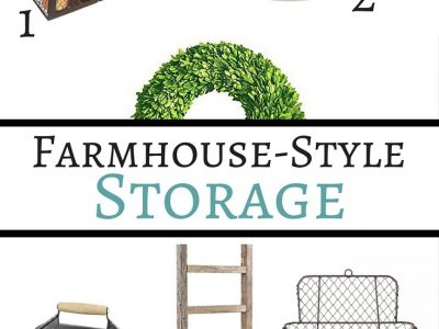 Make your organizing solutions look stylish with farmhouse style storage. Here's some great pieces to brighten up your home and organize it at the same time.