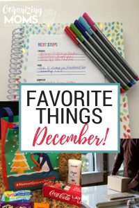 Favorite Things for December. This month there was definitely a pattern - lots of things to make life easier and less stressful!