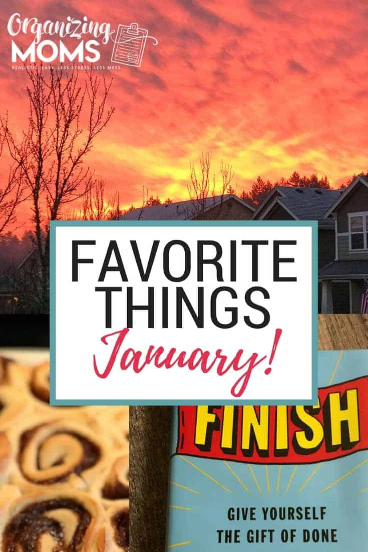 Favorite Things for January. Organizing ideas, good books, and other recommendations.