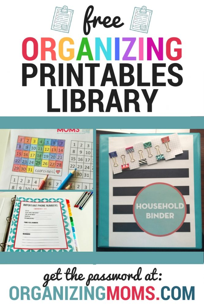 Free printables for moms! | Checklists, printables, decluttering guides, and more! | Free Organizing Printables Library at organizingmoms.com