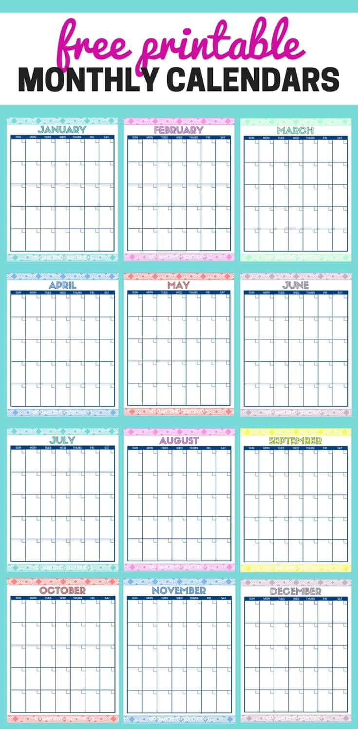 photograph regarding Cute Free Printable Calendars referred to as Lovely Totally free Printable Regular monthly Calendars - Scheduling Mothers