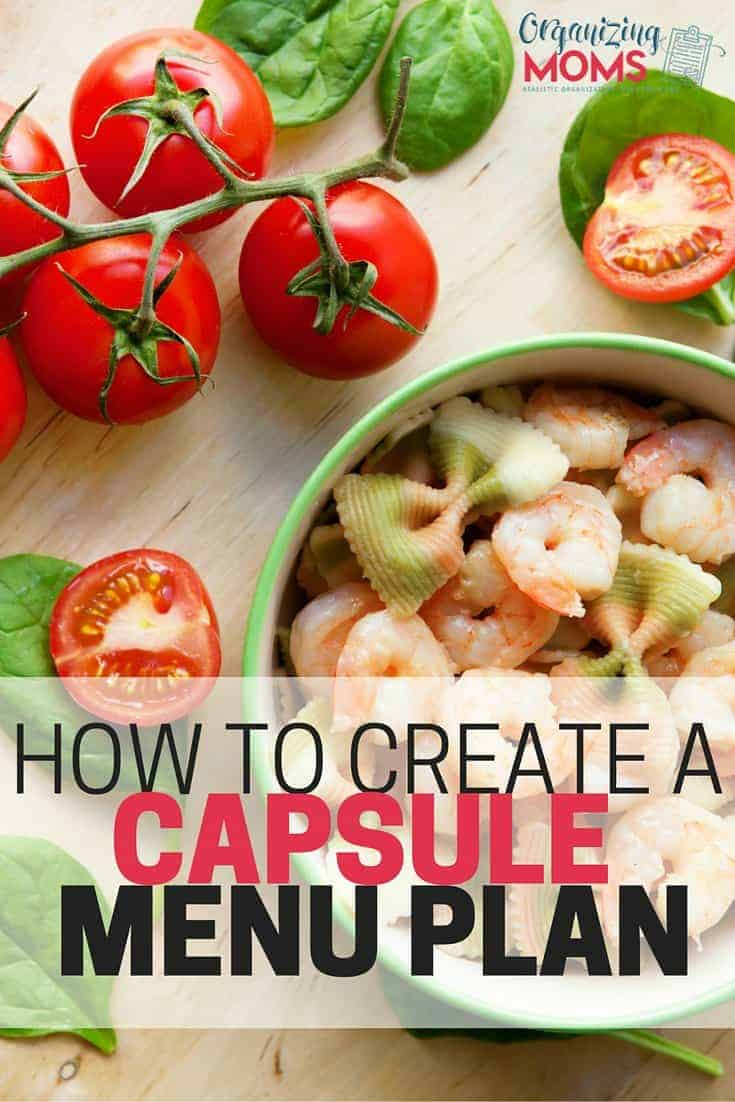 how to create a capsule menu plan