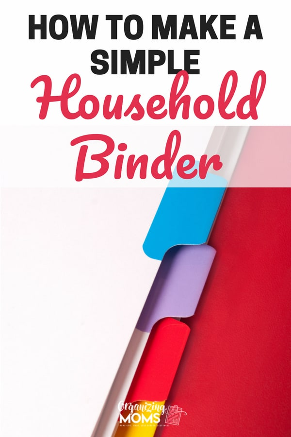 How to make a household binder. || household binder printables | paper organization | organize | organization | household binder organization | free household binder | family binder #organize #householdbinder #organization
