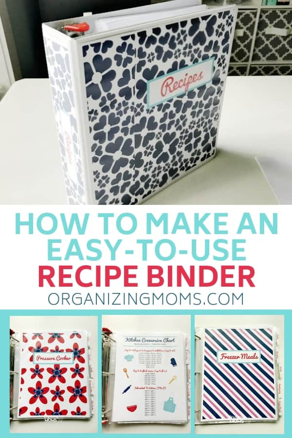 Organize all of your recipes TODAY by making this simple recipe binder. Make everything easy to find so you can save time and enjoy more of your favorite recipes.