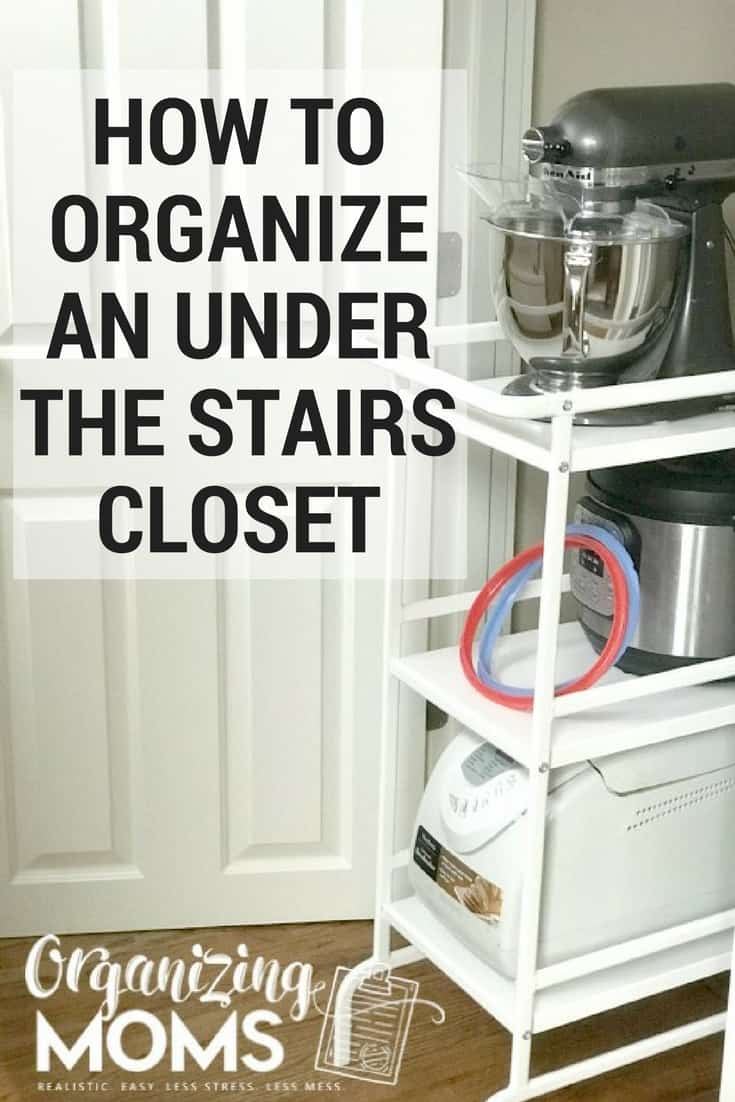 The perfect storage solution for your closet under the stairs. Under the stairs storage ideas from IKEA. Easy and renter friendly!