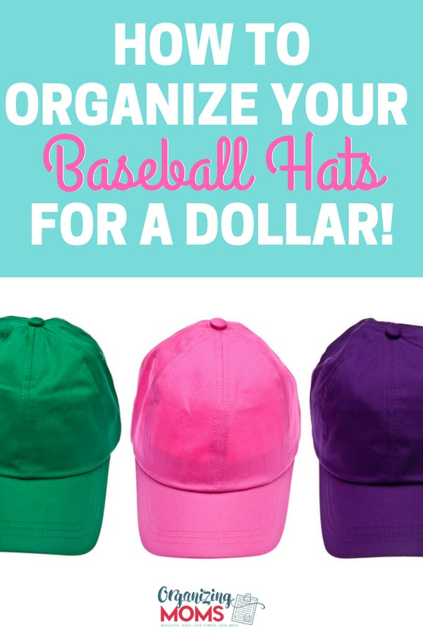 baseball hat storage idea
