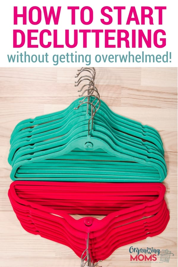 How to start decluttering without feeling overwhelmed. Declutter 101 tips to help you know where to start decluttering and make some serious progress on organizing your house.