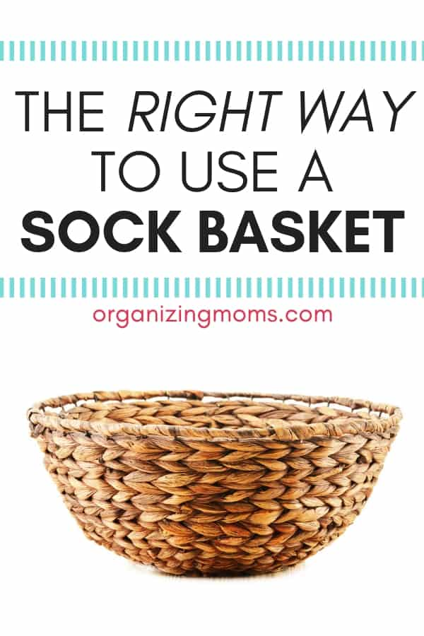 Why you should be using a sock basket to save time and get organized.