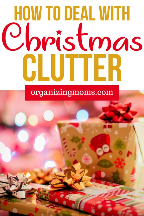 How to get rid of Christmas clutter once and for all. A no-nonsense strategy for decluttering and organizing Christmas decor, gifts, wrapping paper and more. Action plan for cleaning up after the Christmas holiday.
