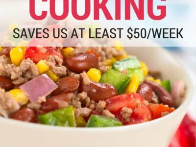 Save time and money in the kitchen with freezer cooking. Our family of four saves at least fifty dollars each month by doing freezer cooking a couple times a month. from Organizing Moms
