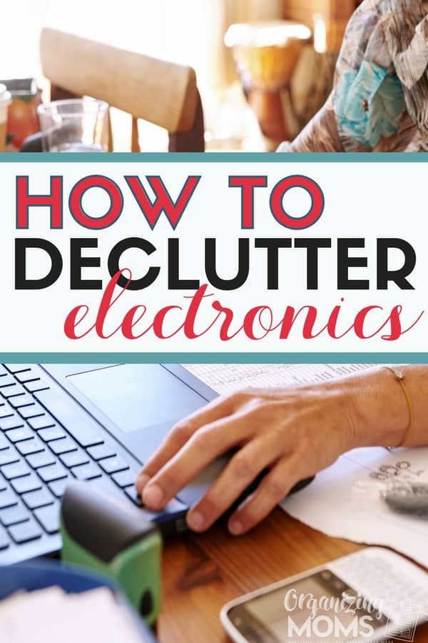 How to declutter electronics, computers, old devices, printers, and more. || declutter | decluttering tips | technology clutter | organize | decluttering ideas | recycle | overwhelmed by clutter #declutter #organize #declutteringtips #organization #declutterelectronics