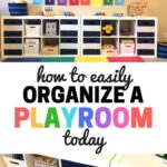 Easy steps to help you organize your playroom. Now your toy room can be a fun place for your kids to use their imaginations and learn!