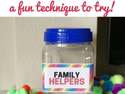 Family helper jar with pom poms