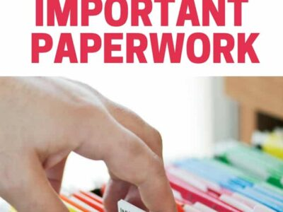 How to organize important papers, documents and records. Set up a paper organization system that works for you!