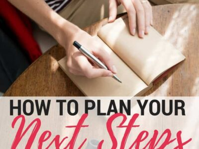 Plan out your next steps to boost productivity, avoid overwhelm, and keep moving forward.